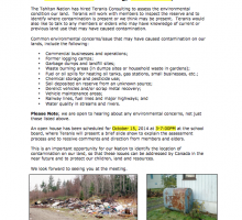 Dease Lake Community Notice