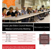 Dease Lake October 19th Meeting Poster
