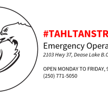 Tahltan Strong EOC Logo - horiz - 5 days a week - red