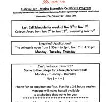 Tuition Free Mining Program