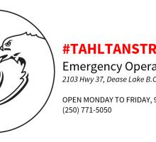 Tahltan Strong EOC Logo - horiz - 5 days a week - red